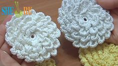 Crochet Fluffy Flower Tutorial 9 (+playlist)