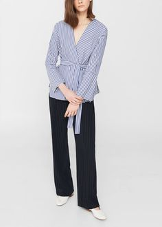 Wrap blouse - Women | MANGO USA