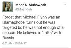 Liberal Democrats' motivation for targeting Michael Flynn was their New Cold War with Russia, not his Islamophobia nor his aspirations for war with Iran.!! #Politic #USA #News #DonaldTrump #Russia #democrats #MichaelFlynn #Europe #Iran