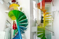 Colorful,Spiral,Staircase
