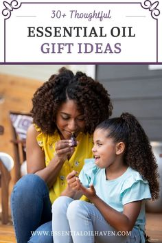 Essential oil themed gifts are a beautiful, thoughtful option for your health-conscious giftee. Whether you're looking for a token of your romantic love, or just something small but thoughtful for a friend… Here are 30+ thoughtful essential oil gifts that would delight anyone that's into natural products and a healthy home! #essentialoils