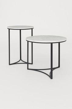 Sofabord med marmorplate - Hvit - | H&M NO 2