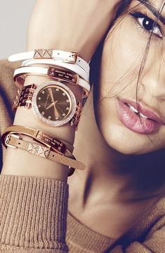 Michael Kors Leather Double Wrap Bracelet (Nordstrom Exclusive) | Want one in every color!