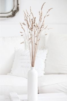 white and beige decor