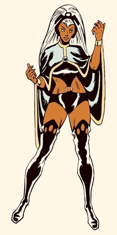 Storm - Ororo Munroe by Dave Cockrum Marvel Comics Arte Dc Comics, Marvel Comics Art, Marvel X, Marvel Heroes, Comic Book Characters, Marvel Characters, Comic Character, Comic Books Art, Character Design