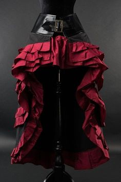 Steampunk Couture Black and Red Vex Skirt - Click to enlarge - Visit now for 3D Dragon Ball Z shirts now on sale!