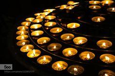 Candles in the Notredame Candles in the Notredame - Paris