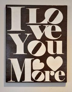 etsy+canvas+art | Love you More - Canvas Art. $42.95, via Etsy.