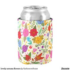 lovely autumn flowers can cooler