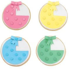Trendsetting Bassinettes Cookies - Spotted everywhere, these bold and beautiful baby bassinette cookies add a fantastic accent to your dessert table. Top them with bright confetti sprinkles from our Flowerful Medley 6-Mix Sprinkle Assortment.