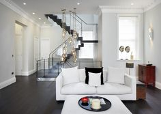 Emperors Gate | Kensington Custom design staircase joins the three apartments together in this luxury refurbishment in Kensington.