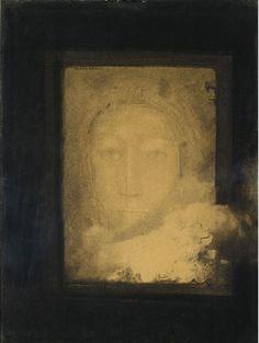Odilon Redon (French, 1840 - 1916) - Visage de rêve,  Galerie Coatalem, Paris, France
