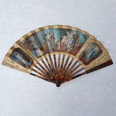Eventail XVIIIe siècle, monture écaille