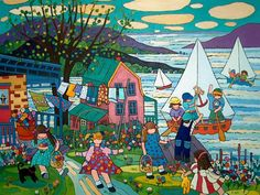 summer at the lake  by terry ananny  36x48 in.   Robert Paul Galleries, Stowe, Vermont, US