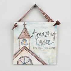 Glory Haus - Amazing Grace Chapel Ribbon Canvas - x Easter Paintings, Christmas Paintings, Fall Paintings, Cross Paintings, Small Canvas Paintings, Canvas Art, Canvas Ideas, Dorm Paintings, Painted Canvas