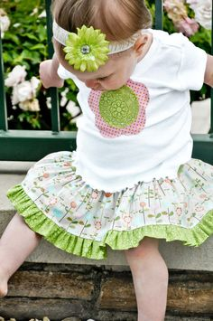 Girl's Boutique Outfit Twirl Skirt