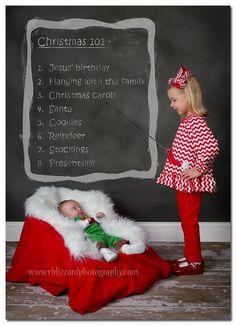 Christmas sibling shot