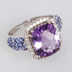 Amethyst Tanzanite White Topaz 925 Sterling by ArihantJewelry