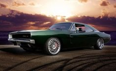 68 Charger body on a late model SRT8 Charger chassis and drive train built for CSI star Gary Dourdan by West Coast Customs