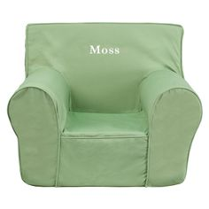 Moss Green Kids Foam Chair With Personalization Included!