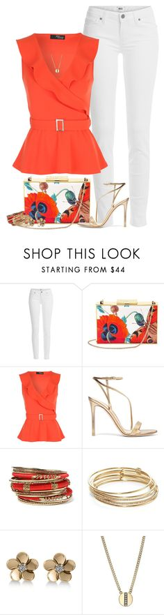 """White Jeans for Spring"" by houston555-396 ❤ liked on Polyvore featuring Paige Denim, Aspinal of London, Gianvito Rossi, Amrita Singh, Kate Spade, Allurez and Cole Haan"