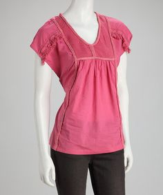 Take a look at this Pink Embellished Top by Ruby Rose on #zulily today!