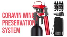 ✅ Coravin's Wine Gadget Lets You Drink One Glass Now, Save the Rest | UL... Wine Gadgets, New Kitchen Gadgets, Fire Extinguisher, Program Design, Preserves, Rest, Let It Be, Drinks, Glass