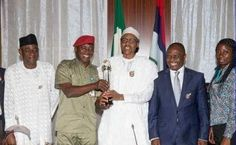 President Buhari was on Monday, January 11, presented GLO CAF platinum Award for good leadership fro...