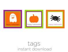 Printable Tags  Halloween Decoration  Halloween by sparkanddelight