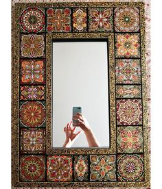 Image may contain: one or more people Mirror Ceiling, Mirror Tiles, Hidden Cabinet, Mandala Artwork, Frame Clipart, Boho Hippie, Pattern Art, Boho Decor, Foto E Video