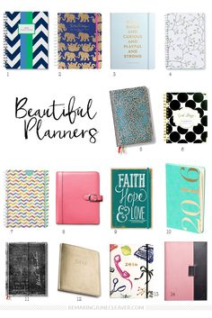 14 beautiful planners 2016
