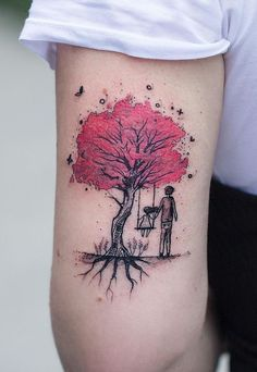 tree of life watercolor tattoo © Robson Carvalho