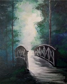 Acrylic Painting Lessons, Watercolor Projects, Painting Techniques, Painting & Drawing, Watercolor Paintings, Acrylic Canvas, Canvas Art, Hirsch Silhouette, Scenery Pictures