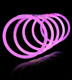 8 Inch Glowstick Bracelets - Pink - Save 10% off sitewide at GlowUniverse.com with code PIN10