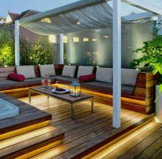 indirecte verlichting in tuin