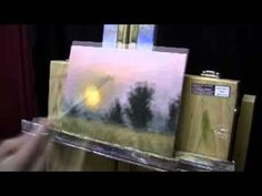 a lot of tutorial acryl painting, animal portrait Sunset Practice Panel - Acrylic Painting Time Lapse