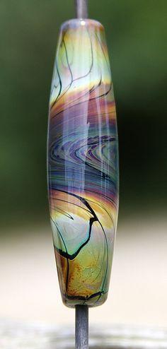 Whirlpool Handmade Lampworked Glass Bead OOAK by ninaeagle on Etsy, $22.99