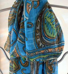 Your place to buy and sell all things handmade Renewal Wedding, Paisley Scarves, Fashion Scarves, Summer Scarves, Body Heat, Cotton Scarf, Vera Bradley Backpack, Scarf Styles, Womens Scarves