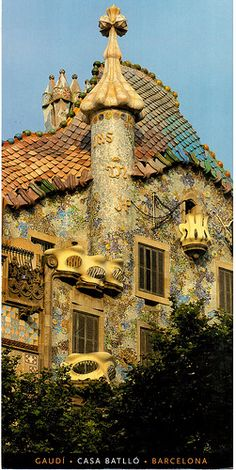 Postcrossing NL-2231367 - Card with Gaudi's Casa Batllo, sent by a Postcrosser in the Netherlands who visited Barcelona, Spain.