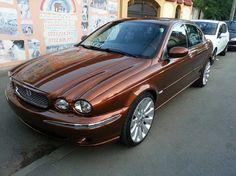 jaguar x-type painted in audi ipanema braun