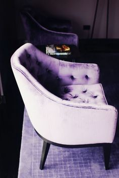 Velvet... Lilac... makes me want to snuggle in with a Jane Austen or a Henry James book...