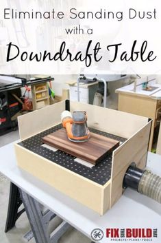Cool Woodworking Tips - Eliminate Sanding Dust With Downdraft Table - Easy Woodworking Ideas, Woodworking Tips and Tricks, Woodworking Tips For Beginners, Basic Guide For Woodworking - Refinishing Wood, Sanding and Staining, Cleaning Wood and Upcycling Pallets - Tips for Wooden Craft Projects http://diyjoy.com/diy-woodworking-ideas