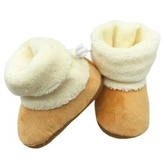 Newborn Baby Winter Boots Booties Keep Warm Pre-Walker Shoes Infant Boy  Girl Toddler Soft Soled First 00074485b390