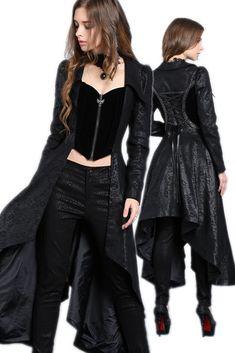 JW092 Gothic long jacket of sides long middle short