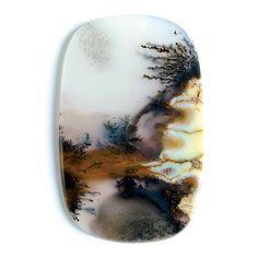 Landscape-Dendritic-Moss-Agate-Cabochon #MossAgate #Cabochon