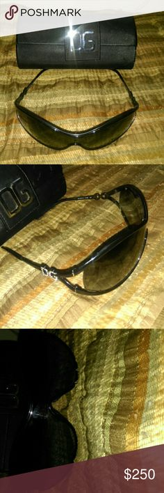 D&G sunglasses w/case womens Authentic...Gently used...no scratches...case included! Dolce & Gabbana Accessories Sunglasses