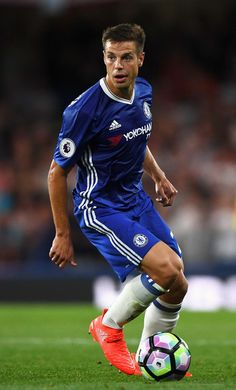 Cesar Azpilicueta Photos - Cesar Azpilicueta of Chelsea in action during the Premier League match between Chelsea and West Ham United at Stamford Bridge on August 2016 in London, England. - Chelsea v West Ham United - Premier League Chelsea Football, Chelsea Fc, Best Football Players, Football Team, This Is Anfield, Fc 1, Soccer Pictures, Tottenham Hotspur Fc, English Premier League