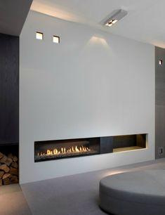 modern architecture - fireplace - metalfire - unique - gas-burning closed fireplace