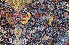 persian rug- beautiful rich colors in this one