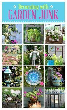 Garden junk deco